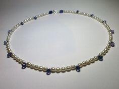 Süßes Perlencollier mit Amethysttropfen von schmuckbewusst-woman auf DaWanda.com