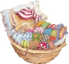 sleeping Everybody needs a patchwork quilt! Just 4 Grins Beatrix Potter, Tatty Teddy, Susan Wheeler, Motifs Animal, Hamster, Cute Mouse, Cute Creatures, Children's Book Illustration, Cute Drawings