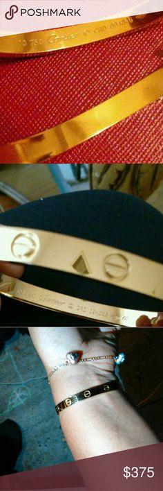 Cartier love bracelet Screw driver included.  Size 20 Cartier Jewelry Bracelets