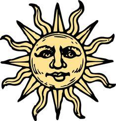 sun drawings | Sun Woodcut clip art - vector clip art online, royalty free & public ...