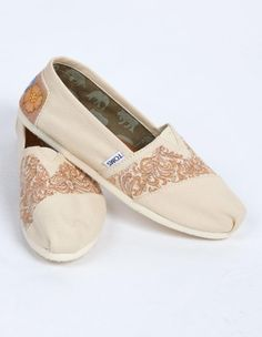 Customized Toms. I am in love with these!!