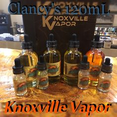 MORE MORE MORE!  Clancy's e-Liquid is now available in 120mL for $45.00!   Same great Flavors just MORE of it!*  *(Only available in 3 & 6mg at this time)  Quality products, great prices and outstanding customer service at your...  Knoxville's & Sevier's