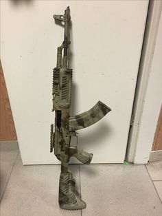 AK-47 with rail & camoflauge