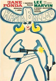 """MP1002. """"Cat Ballou"""" Polish Movie Poster by Wiktor Gorka (Elliot Silverstein 1965) / #Movieposter"""