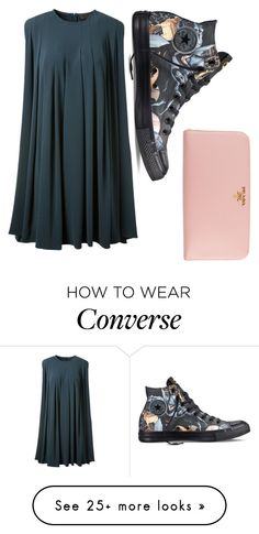 """Elegant"" by tomorrowland1 on Polyvore featuring CO, Converse and Prada"