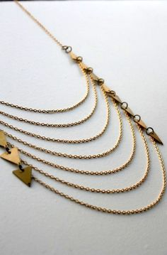 Triangle fever! Necklace by LauraLombardiJewelry on Etsy