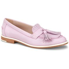 Tod's Mocassins in Leather ($625) ❤ liked on Polyvore featuring shoes, loafers, pink, real leather shoes, leather moccasins, tods shoes, real leather moccasins and pink leather shoes