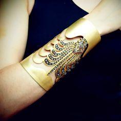 Diamond 'Anthemion' Cuff,Diamond & 18K Yellow Gold Cuff