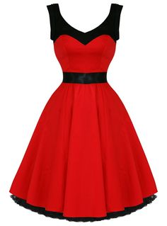Grace Red & Black 50's Dress | Tragic Beautiful