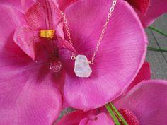 14k gold filled Rainbow Mystic Rose Quartz crystal by AlohaXO