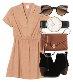 """Untitled #4234"" by laurenmboot ❤ liked on Polyvore featuring Monki, Dolce Vita, H&M, Daniel Wellington and Sydney Evan"