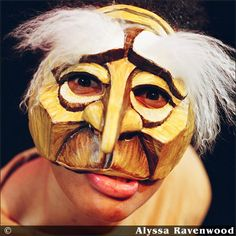 Commedia Dell'Arte mask Pantalone by Alyssa Ravenwood