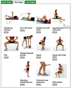 Some of these are good for hamstrings... It's important to strengthen hamstrings and not just quads!
