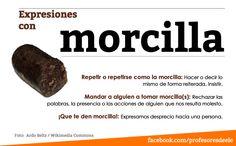 Expresiones con la palabra morcilla: https://www.facebook.com/profesoresdeele  https://twitter.com/ProfesoresELE  #expresiones #ELE #profesoresELE #SpanishTeachers #StudySpanish #español #Spanish #morcilla