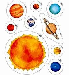 cutting activities for space theme Solar System Activities, Solar System Projects, Space Activities, Science Activities, Science Projects, Planets Activities, Space Preschool, Preschool Education, Physical Education