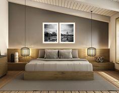 Conjunto de Quadros Decorativos Paris Torre Eiffel Kit com 2 Quadros 60x80cm Modern Luxury Bedroom, Contemporary Bedroom, Luxurious Bedrooms, Paris Torre, Master Bedroom, Bedroom Decor, Minimalist Dining Room, Wood Beds, Bedroom Styles