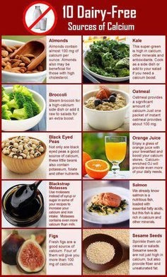 If you are Calcium deficient and lactose intolerant here are some great foods to help that don't contain dairy.