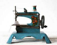 French toy sewing machine by RueDesLouves, $85.00