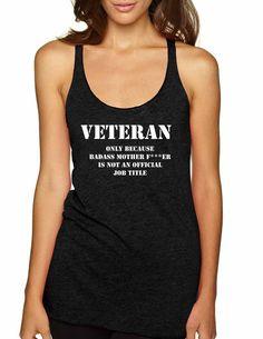 c5742812cf6a1 Veteran Badass mother Women s Triblend Tanktop
