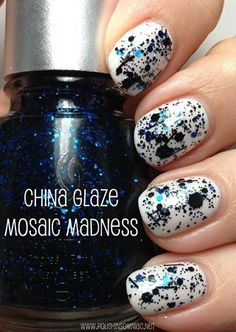 China Glaze Mosaic Madness (over Dandy Lyin' Around)