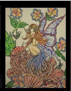"""Fairy Of Wonder"" Acrylic painting on 11x14 canvas"