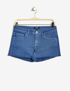 short à bords francs medium blue