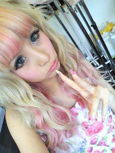 #gyaru #pink hair