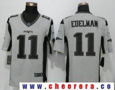 Men's New England Patriots #11 Julian Edelman Gray Gridiron II Stitched NFL Nike Limited Jersey