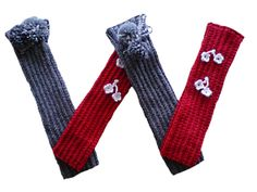 Legwarmers hand knit legwarmers 2 pairs set. Gray with by woolopia, $25.00