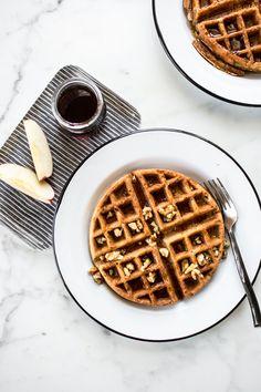 Cinnamon Apple Buckwheat Waffle recipe that's gluten + dairy free! | edibleperspective.com