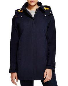 VINCE CAMUTO Hooded Zip Front Stadium Coat