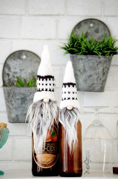 A personal favorite from my Etsy shop https://www.etsy.com/listing/492250380/scandinavian-gnome-bottle-topper-white