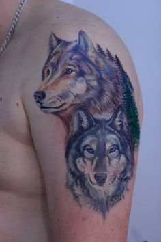 A wolf tattoo is one of the most popular choices when it comes to animal-inspired tattoos. Though it is typically portrayed in only two variants – head-only or full-body – it is open to a lot of design creativity.  It looks absolutely gorgeous in realistic black-and-grey, which is the most common design. The rise of watercolor tattoos also birthed more colorful wolf tattoo designs, with the usual black and gray colors replaced with a full range of rainbow colors. #blackandgraytattoos