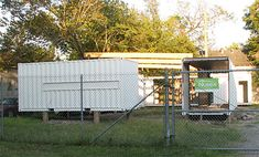 Shipping Containers at 206 Cordell St., Houston