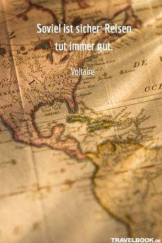 Mehr Sprüche und Zitate rund ums Reisen findet ihr hier: http://www.travelbook.de/service/travel-sprueche-beruehmte-saetze-und-zitate-zum-reisen-599500.html