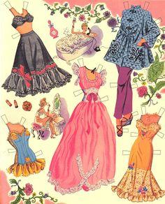 June Allyson paper doll clothes