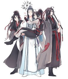Wei Wuxian jamás en su vida pensó que su matrimonio se volvería un in… #fanfic # Fanfic # amreading # books # wattpad Mpreg Anime, Fanarts Anime, Manga Anime, Animal Sketches, The Grandmaster, Cute Chibi, Cute Anime Couples, I Love Anime, Cute Gay
