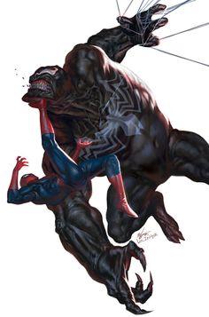 Venom vs Spider-Man by In-Hyuk Lee