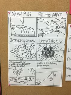 Elementary Art Room: Drawing Poster