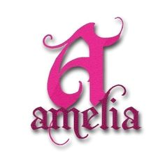 Amelia Machine Embroidery Monogram Alphabet Fancy  by Embroitique, $6.99
