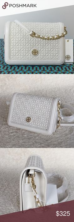 "NEW TORY BURCH BRYANT QUILTED COMBO CROSS-BODY BAG Authentic. Brand new with tags. This bag will come with dust bag. PLEASE NO TRADE. THE PRICE IS FIRM. Magnetic snap closure. Strap drop: 24"". Leather chain strap (removable)  Interior: 1 exterior zip pocket under flap, 1 interior zipper pocket, 2 open pockets. Tory Burch Bags Crossbody Bags"