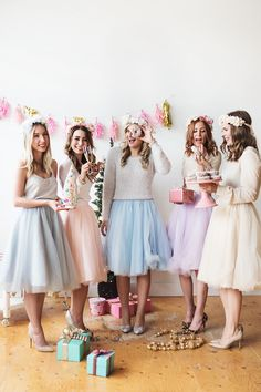 Blush pink tulle skirt flower crown holiday outfit photoshoot