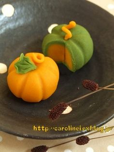 南瓜 の 和菓子 - Wagashi Citrouille - Pumpkin Wagashi