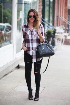 Plum Plaid By Fashionably Kay