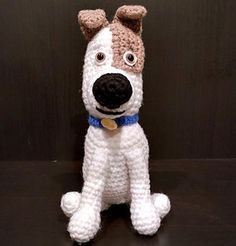 #haken, gratis patroon (Engels), hond, The secret life of Pets, Max, knuffel, speelgoed, #haakpatroon, #crochet, free pattern, dog, stuffed toy