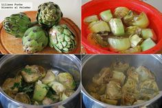 Artichoke, Sprouts, Tapas, Vegetables, Cooking, Vegetarian, Chickpea Burger, Casseroles, Garlic