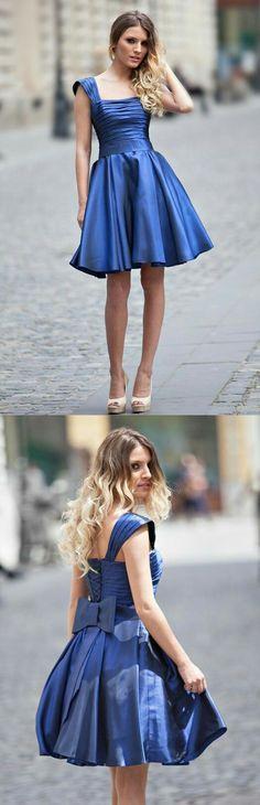 royal blue homecoming dresses,short homecoming dresses,bowknot homecoming dresses,cute homecoming dress