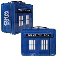 The Next Best Thing - Doctor Who TARDIS Tin Tote, $14.50 (http://www.thenextbesthing.com/doctor-who-tardis-tin-tote/)