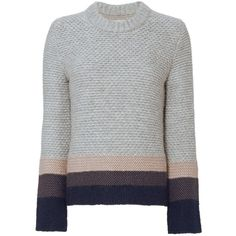 Brochu Walker Women's Ombré Cable Knit Sweater (95.975 HUF) ❤ liked on Polyvore featuring tops, sweaters, jumper, shirts, long sleeve tops, cable jumper, brochu walker sweater, chunky cable knit sweater and extra long sleeve shirts