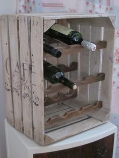 wooden crate wine rack - Google Search More